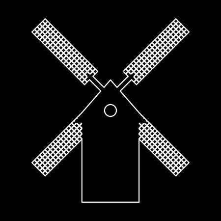 grain: Mill it is white color path  icon . Illustration