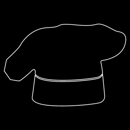 Chef cooking hat it is white color path  icon . Illustration