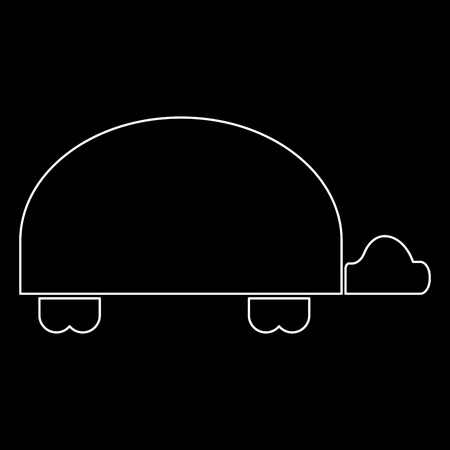 Turtle it is white color path  icon .