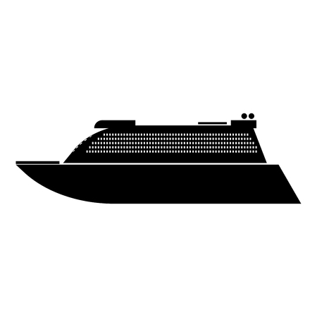 Transatlantic cruise liner black it is black color icon .