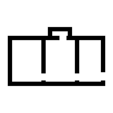 Wohnungsplan schwarz ist schwarzes Farbsymbol. Standard-Bild - 82342268