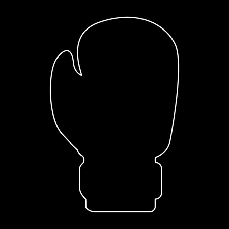Boxing glove it is white color path  icon . Illustration