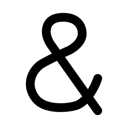 Ampersand black it is black color icon .