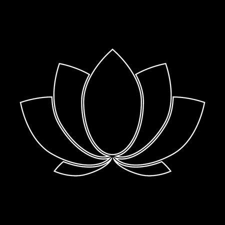 Lotus it is white color path  icon .