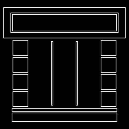 Shopfront it is white color path  icon .