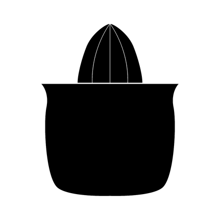 Juicer squeezer zwart het is zwart kleur icoon.