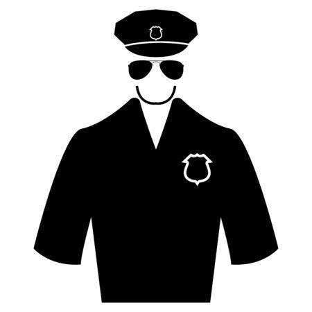 Police black it is black color icon .