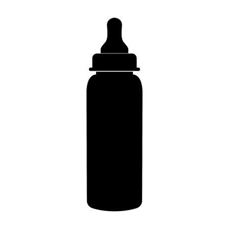 Baby bottle symbol black to ikona koloru czarnego. Ilustracje wektorowe