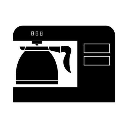Coffeemaker, coffee machine black it is black color icon . Illustration