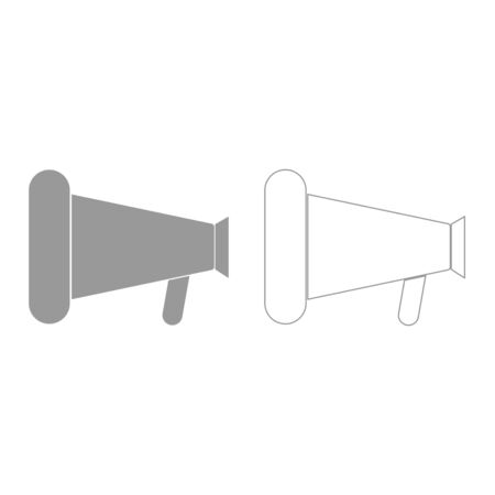 loud speaker: Loud speaker or megaphone it is grey set  icon .