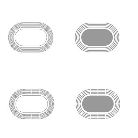 ballpark: Stadium it is grey color set icon . Illustration