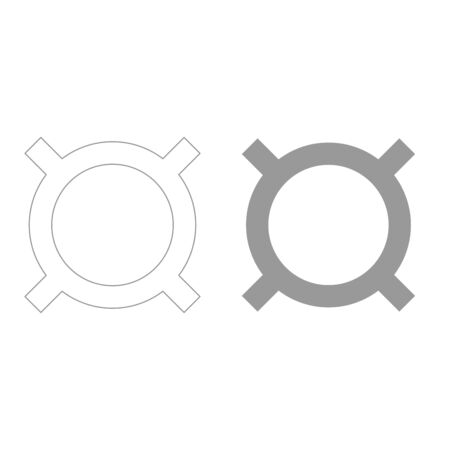 currency converter: Computer symbol any currency it is grey color set icon . Illustration