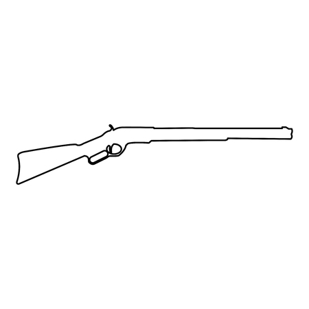 Rifle it is black color path icon . Illustration