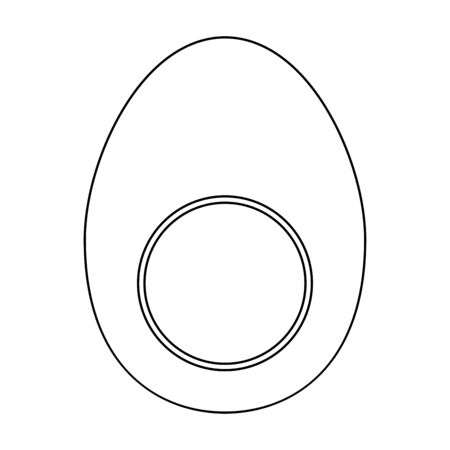 Piece egg it is black color path icon .