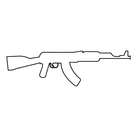 Assault rifle it is black color path icon . Ilustrace