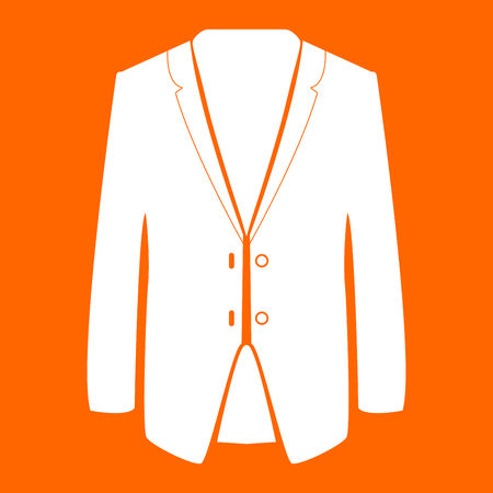 Business suit it is white icon .