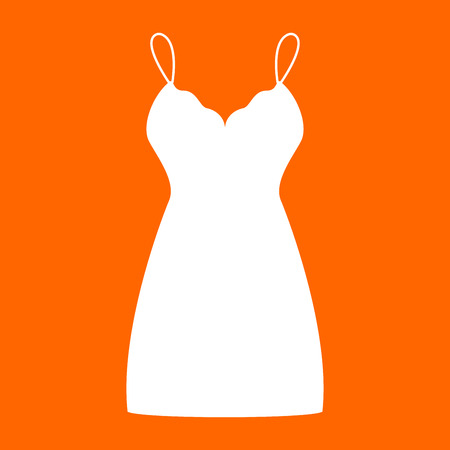 Sundress , combination or nightie it is white icon . Illustration