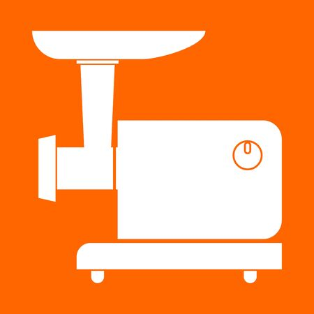 meat grinder: Electric meat mincer it is white icon . Illustration