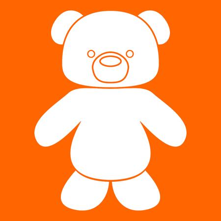 Little bear it is white icon .