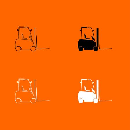 Electric loader icon .