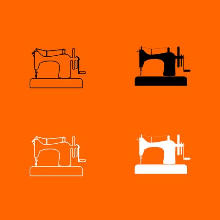 antique factory: Sewing machine icon . Illustration