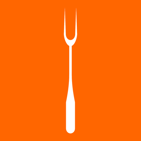 grille: Large Fork it is white icon .