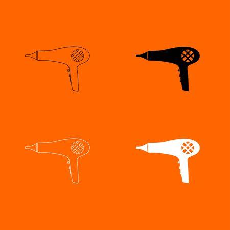 Blow dryer . Hair dryer icon . Illustration