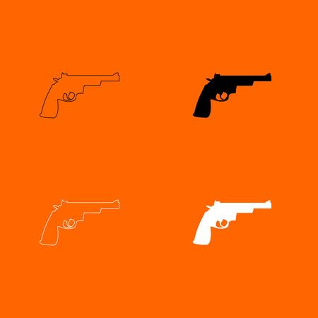 Gun revolver icon . Illustration