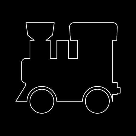 Locomotiva a vapore - treno è l'icona del percorso bianco.