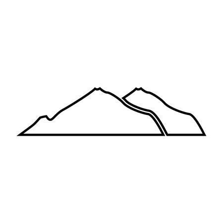 Zwarte berg kleur pictogram. Vector illustratie. Stock Illustratie