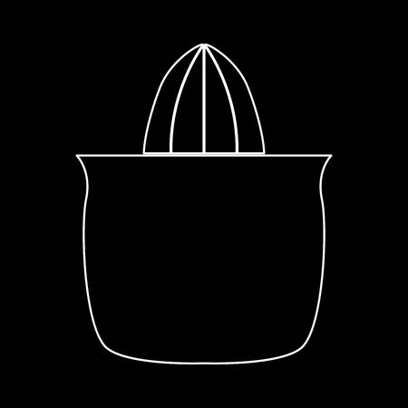 Juicer squeezer witte pad icoon Vector illustratie. Stock Illustratie