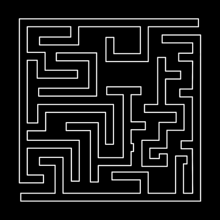 Labyrinth, maze conundrum it is white path icon.