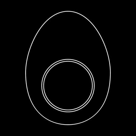 Piece egg white path icon Vector illustration. Stock Vector - 83620098