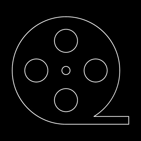 Film strip  white path icon Vector illustration.