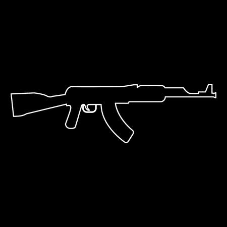 Assault rifle   white path icon Vector illustration.