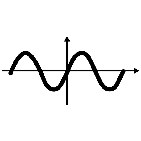 Sinewave it is black color icon . Illustration