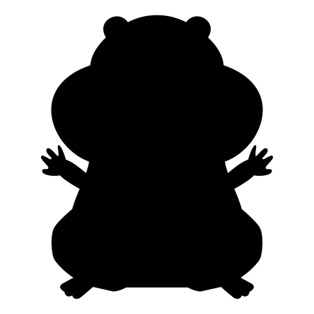 Hamster silhouette it is black color icon .