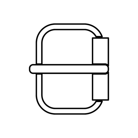 Buckle  it is black color icon . Illustration