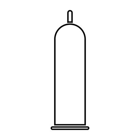 Latex condom it is black color icon .