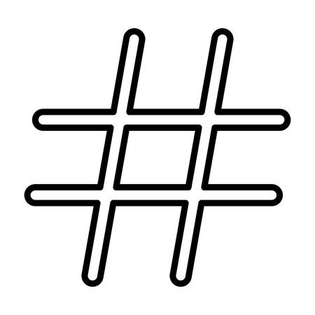 Hashtag it is black color icon . Illustration
