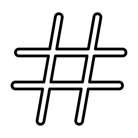 tweet icon: Hashtag it is black color icon . Illustration