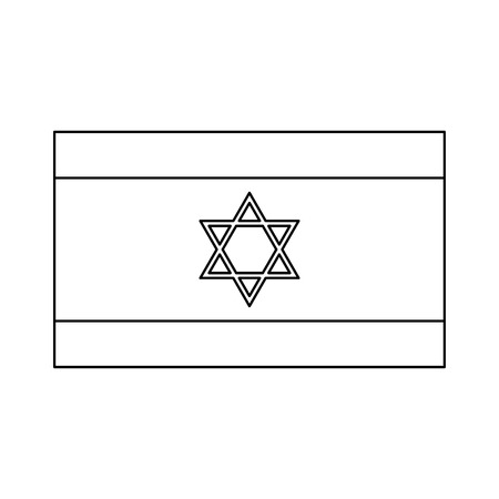 jewish: Flag of Israel it is black color icon . Illustration