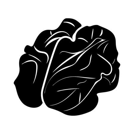 Walnut it is black color icon . Ilustração