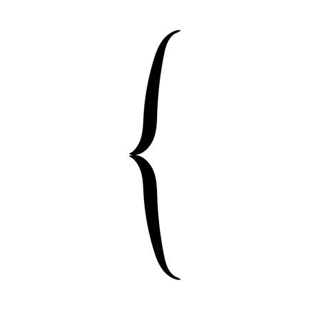 Beugel het is zwarte kleur pictogram.