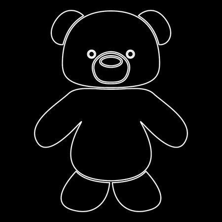 Little bear it is white path icon . Stock Illustratie