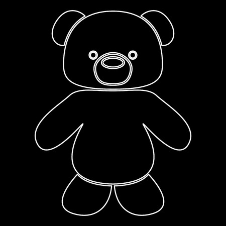 Little bear it is white path icon . Ilustração