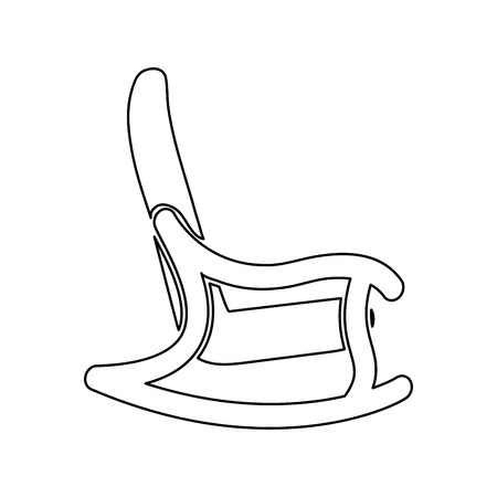 Rocking chair it is black color icon .
