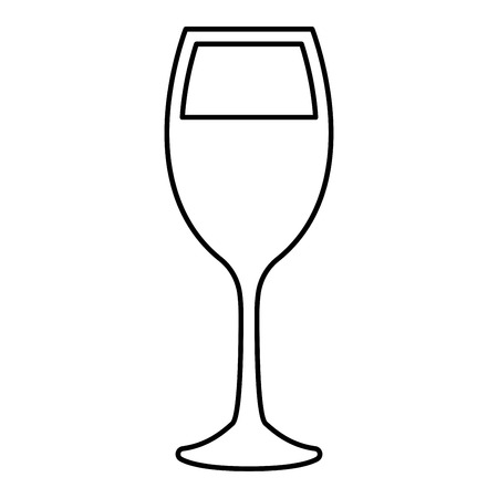 Glass of wine it is black color icon .