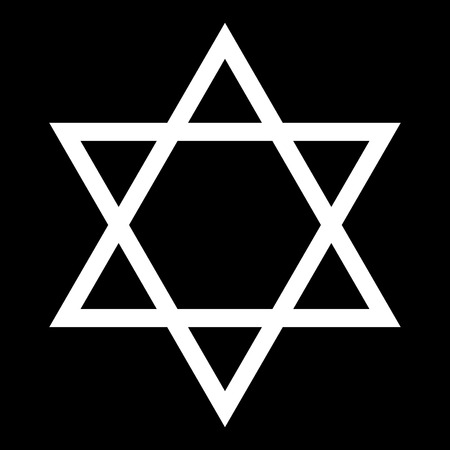 Jewish star of David it is white color icon .