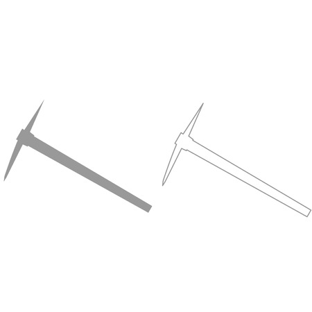 hardware: Pickaxe it is grey set icon .